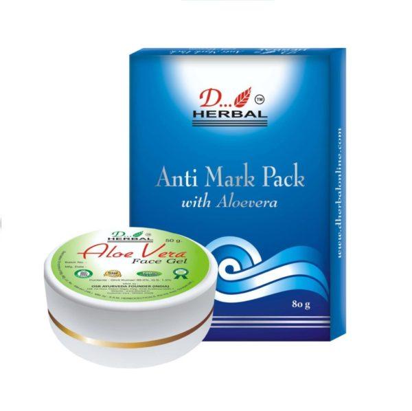 Dherbal Anti Mark Face Pack & Aloe Vera Gel